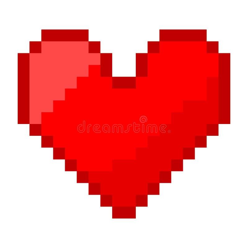 Corazón del pixel libre illustration