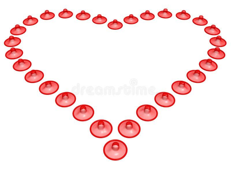 Corazón del preservativo libre illustration