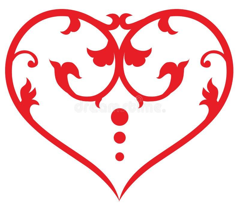 Corazón del remolino ilustración del vector