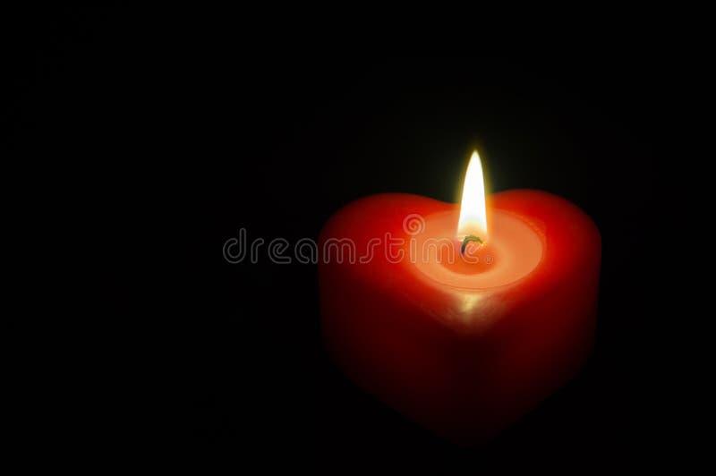 Corazón del rojo de la cera fotografía de archivo