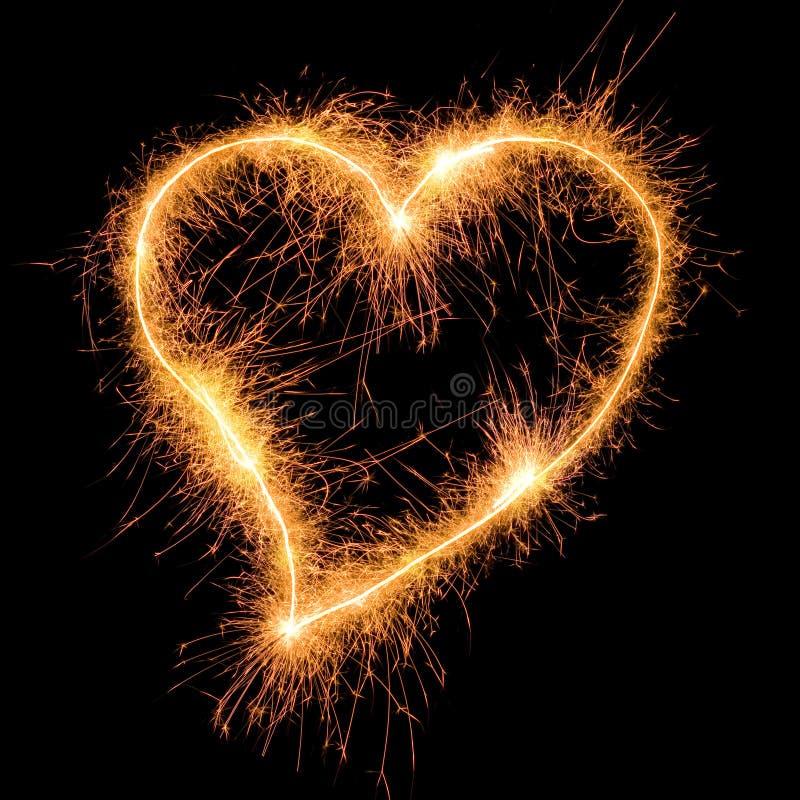 Corazón del Sparkler stock de ilustración