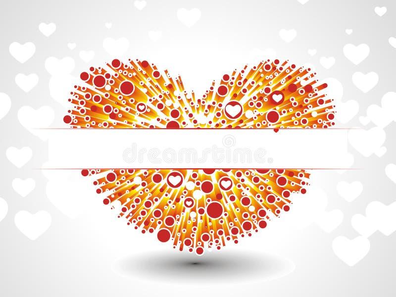 corazón del vector 3d stock de ilustración