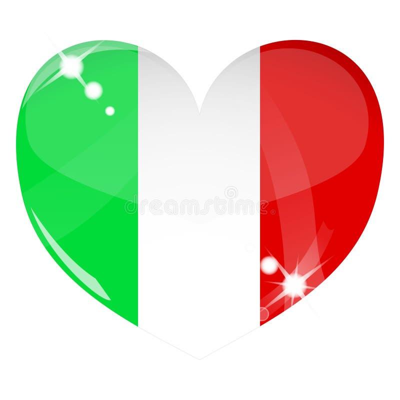 Corazón Del Vector Con Textura Del Indicador De Italia Fotografía de archivo libre de regalías