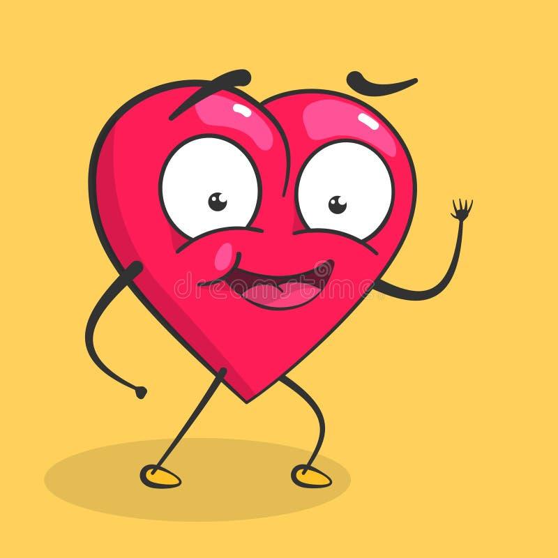 corazón del vector para el día de tarjetas del día de San Valentín stock de ilustración