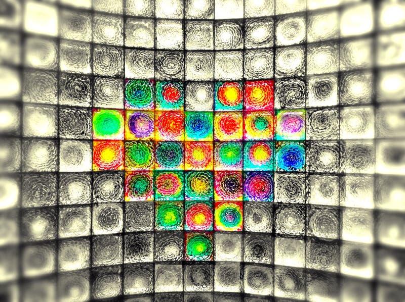 Corazón del vidrio fotografía de archivo