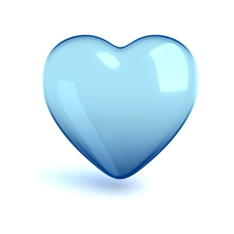 Corazón del vidrio frío stock de ilustración