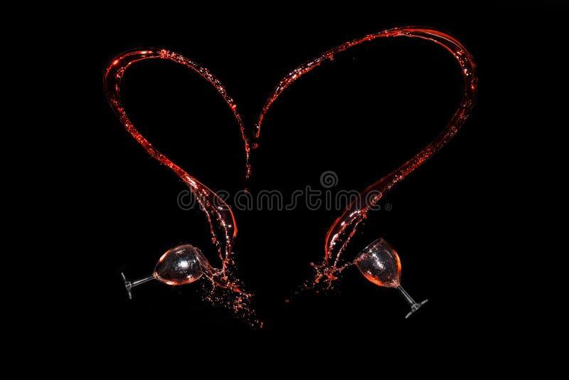 Corazón del vino fotos de archivo