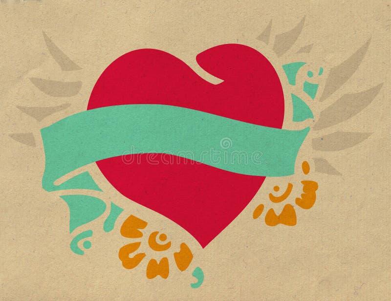 Corazón del vuelo ilustración del vector