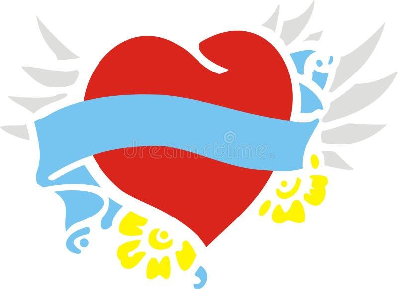 Corazón del vuelo stock de ilustración