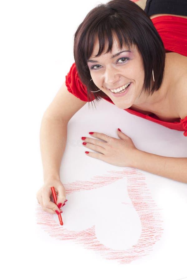 Corazón-dimensión de una variable del gráfico de la mujer imagen de archivo libre de regalías