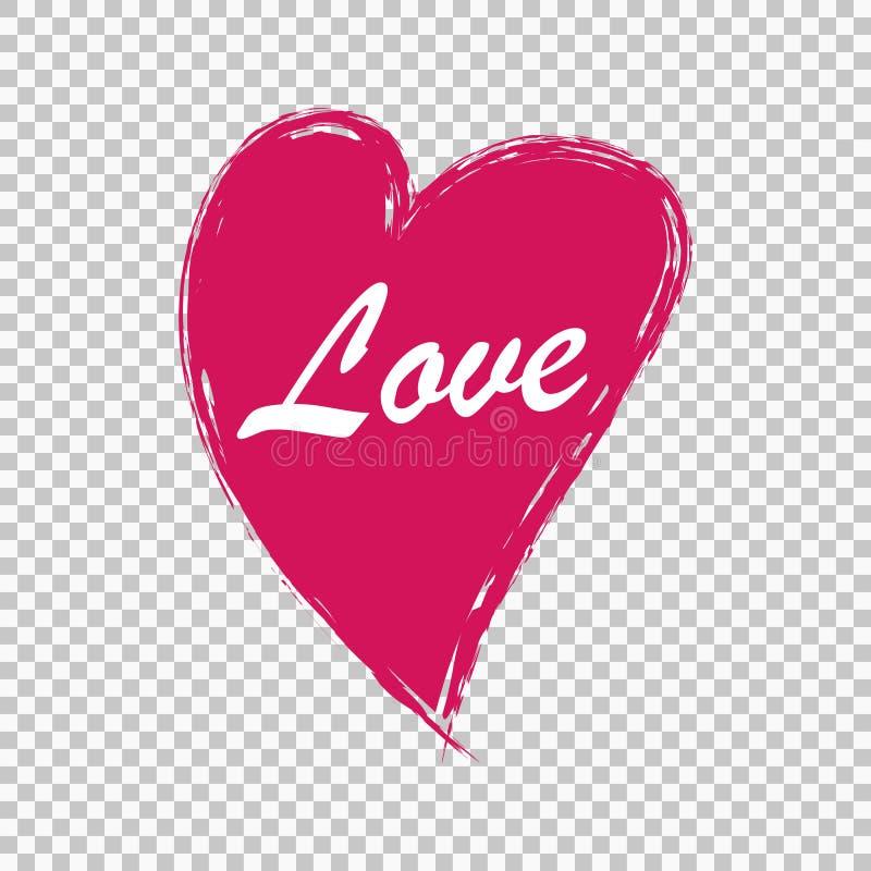 Corazón drenado mano libre illustration