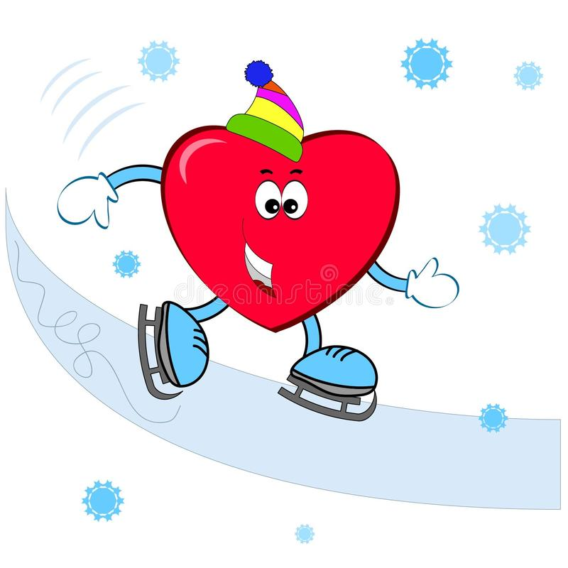 Corazón en el esquí imagen de archivo libre de regalías