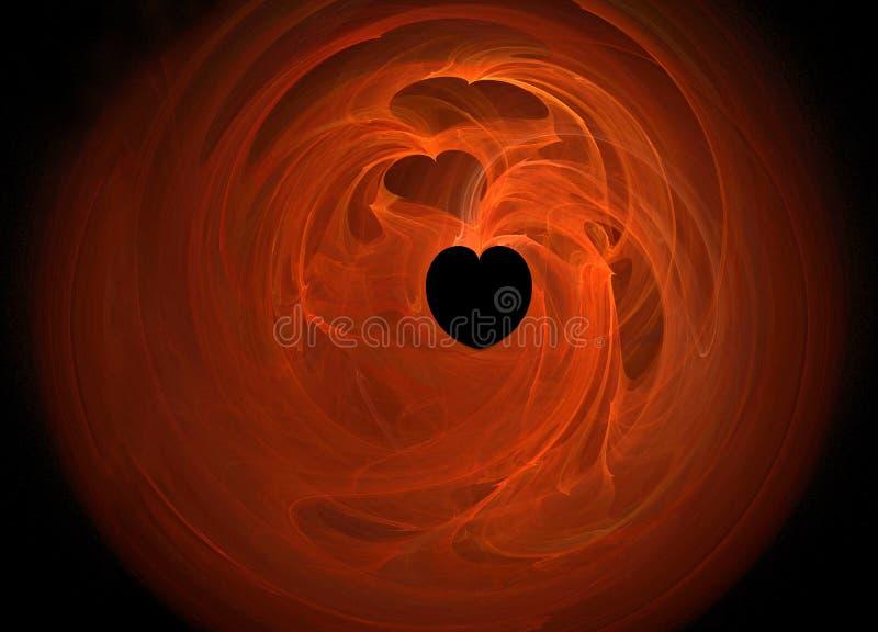 Corazón en el fuego libre illustration