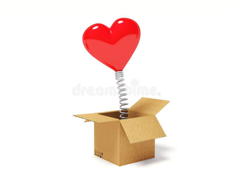 Corazón en el resorte stock de ilustración