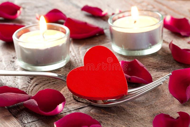 Corazón en fork foto de archivo libre de regalías