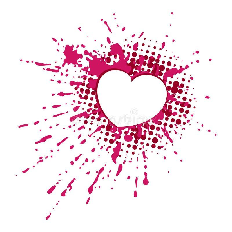Corazón en gota ilustración del vector