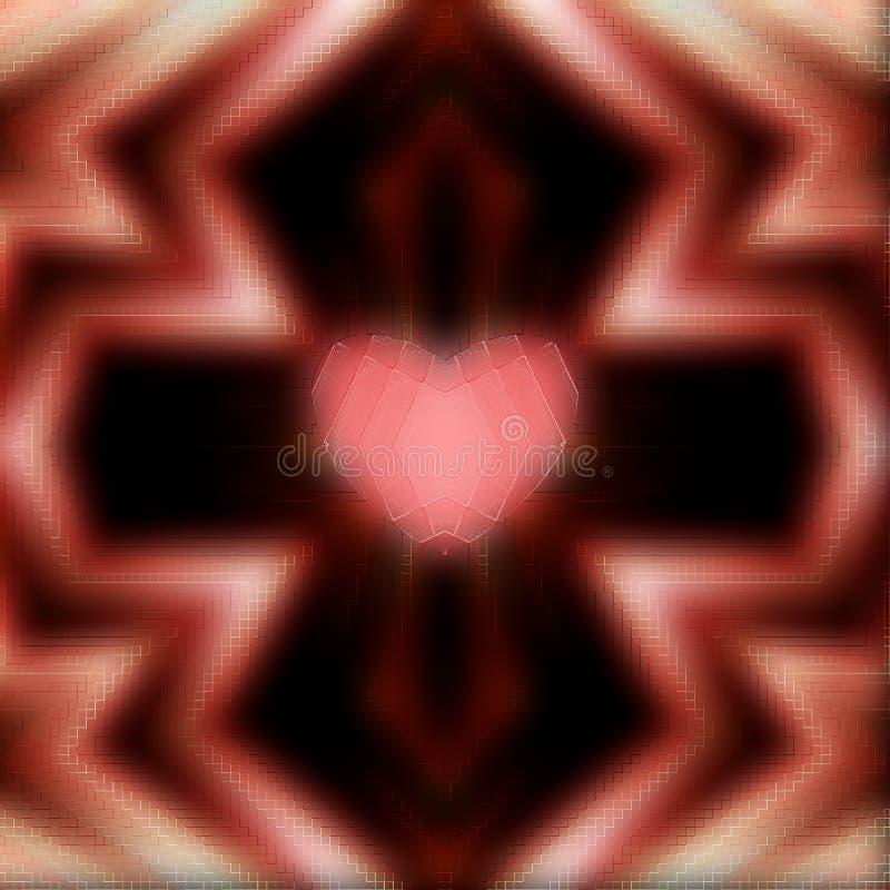 Corazón en la cruz para el día de madres, día de tarjetas del día de San Valentín Modelo borroso libre illustration