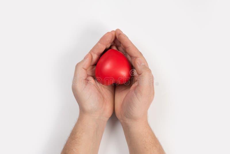 Corazón en las manos fotografía de archivo libre de regalías
