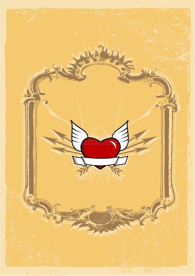 Corazón en marco. ilustración del vector