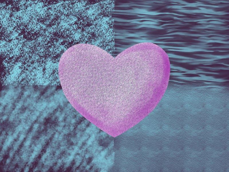 Corazón en un de cuatro partes abstracto libre illustration