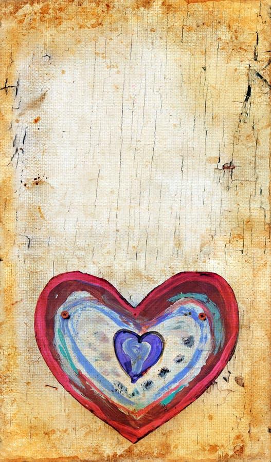 Corazón en un fondo de Grunge imagenes de archivo