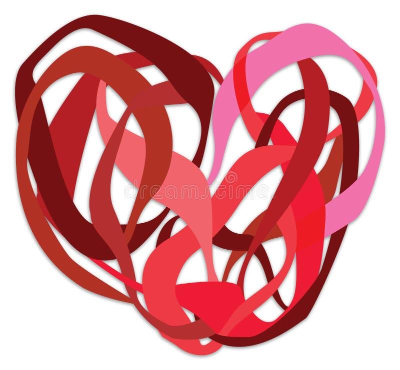 Corazón en un nudo stock de ilustración