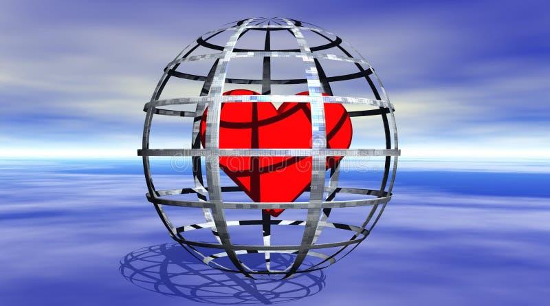Corazón En Una Cárcel Imagen de archivo