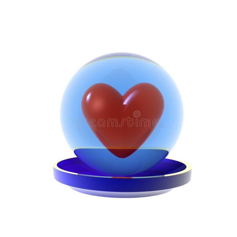 Download Corazón en una esfera stock de ilustración. Ilustración de moderno - 7289332