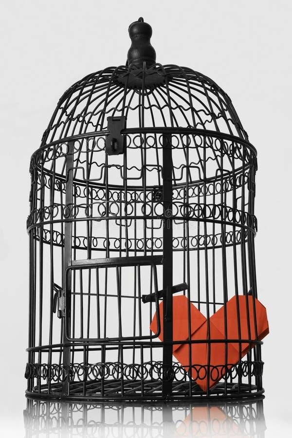 Corazón encarcelado foto de archivo