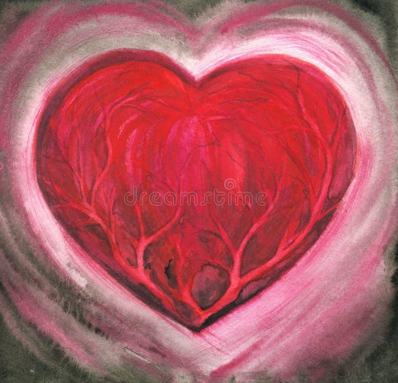 Corazón enfermo ilustración del vector