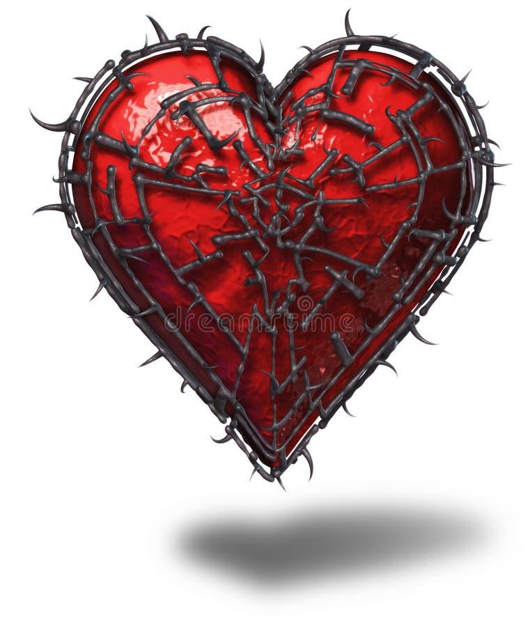 Corazón enjaulado ilustración del vector