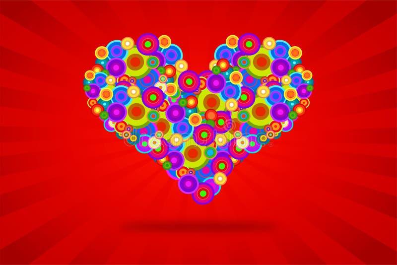 Corazón enrrollado ilustración del vector
