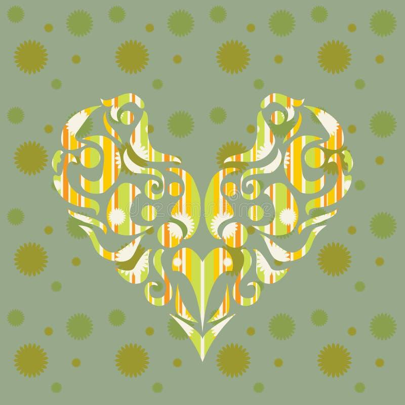 Corazón estilizado en colores en colores pastel de la primavera libre illustration