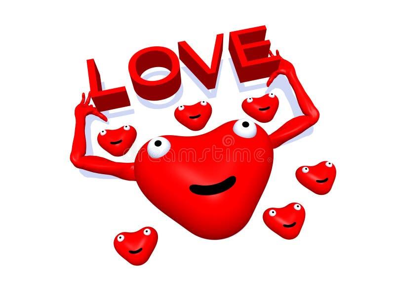 Corazón feliz 79 stock de ilustración