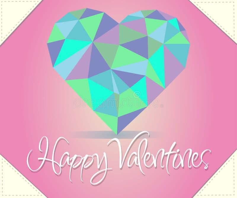 Corazón feliz de las tarjetas del día de San Valentín fotografía de archivo libre de regalías