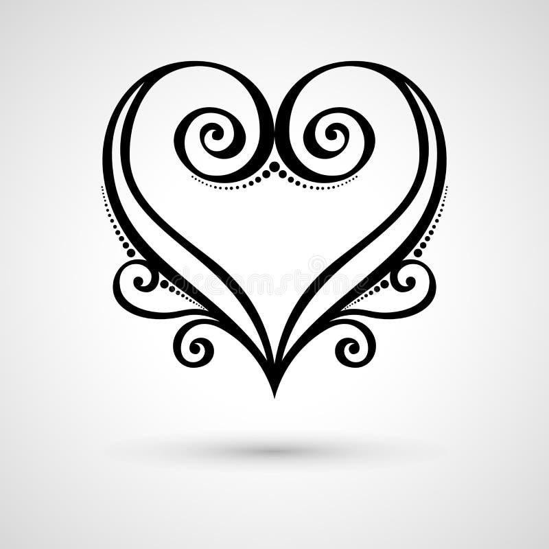 Corazón floral de Deco del vector en Gray Background libre illustration