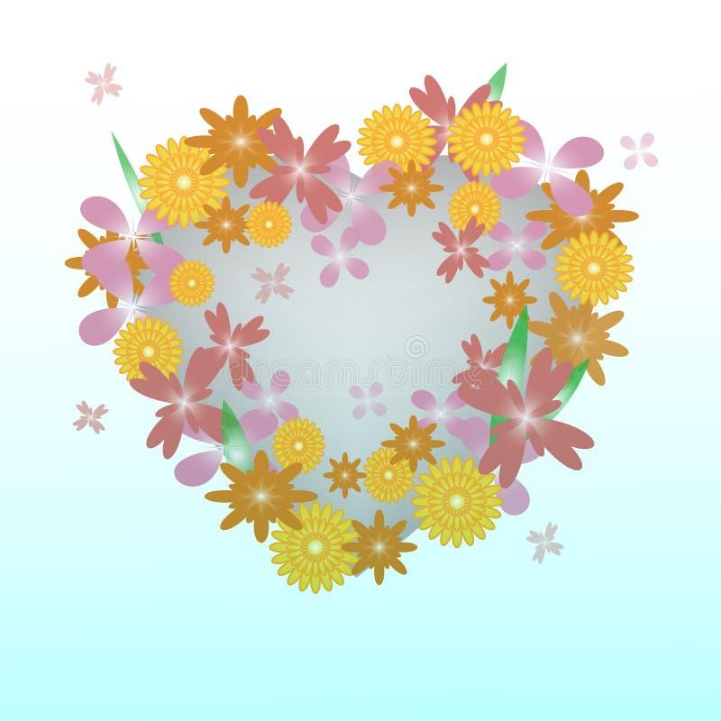 Corazón floral hermoso fotos de archivo libres de regalías