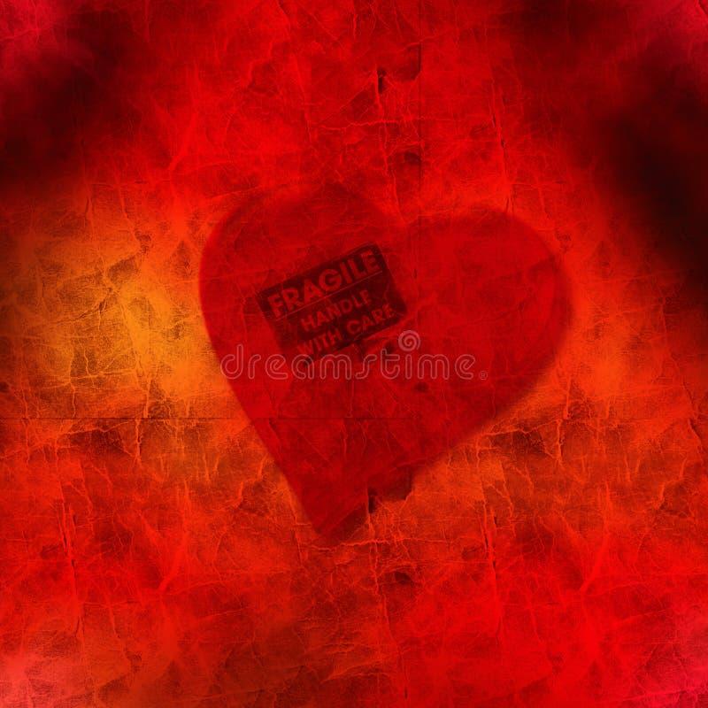 Corazón frágil fotografía de archivo libre de regalías