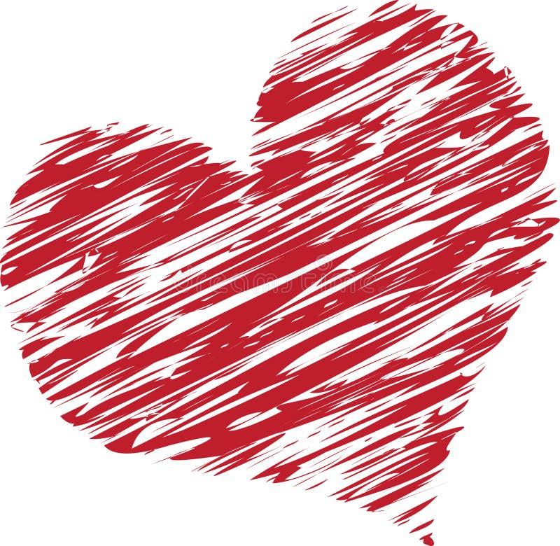 Corazón garabateado fotos de archivo