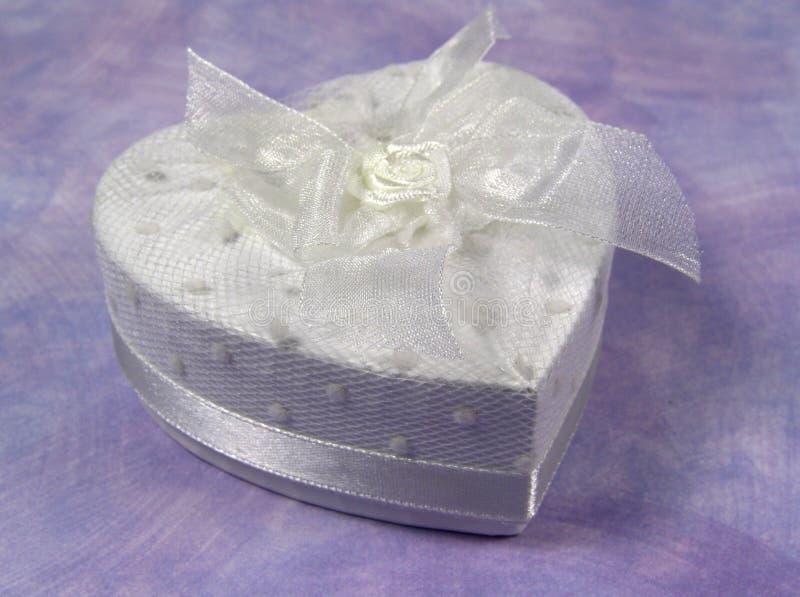 Corazón Giftbox foto de archivo libre de regalías