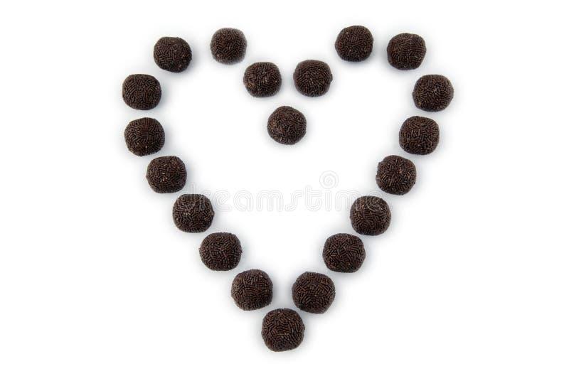 Corazón grande del chocolate imagenes de archivo
