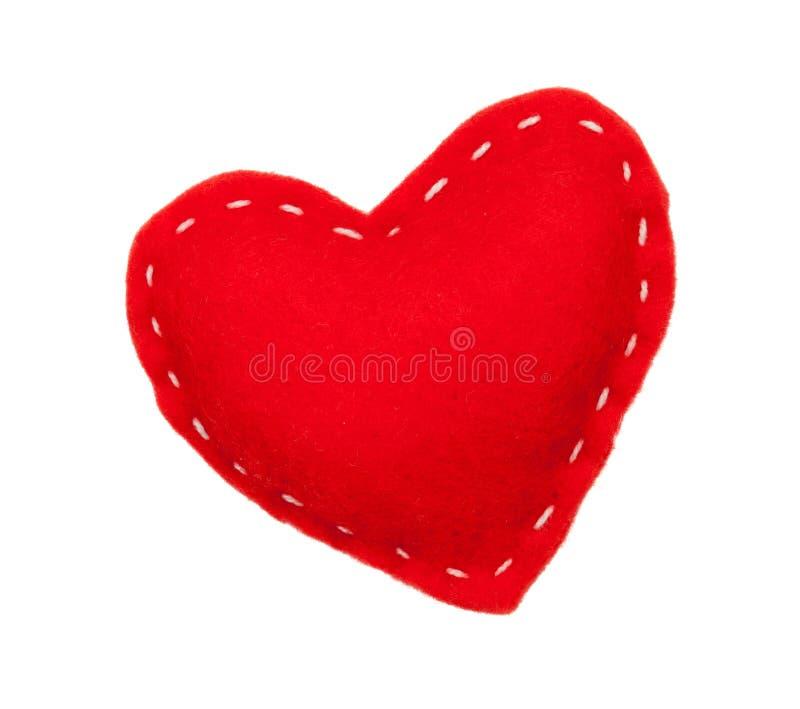 Corazón handmaded del juguete del día de tarjetas del día de San Valentín fotografía de archivo
