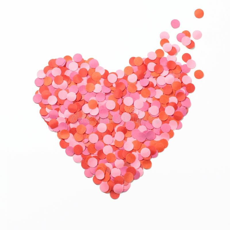 Corazón hecho de confeti fotos de archivo libres de regalías