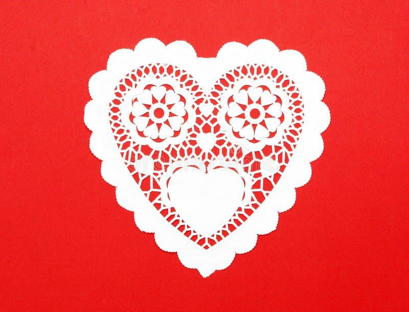 Corazón hecho a mano del papel de la suposición del recorte imágenes de archivo libres de regalías