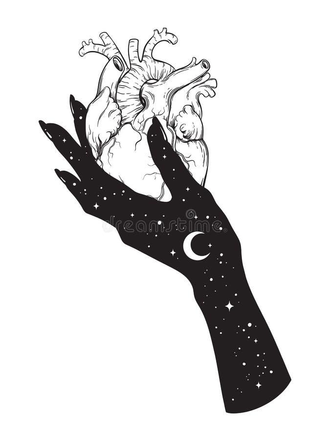 Corazón Humano A Disposición Del Universo Etiqueta Engomada ...