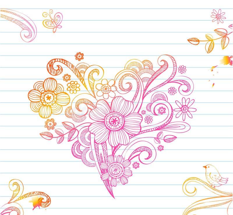 Corazón incompleto stock de ilustración