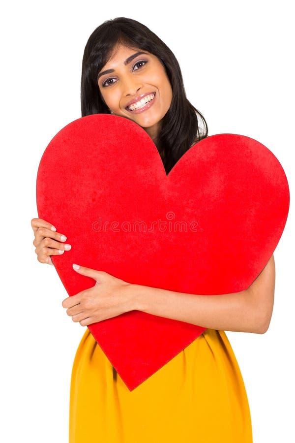 Download Corazón Indio Del Rojo De La Mujer Imagen de archivo - Imagen de alineada, día: 42425833
