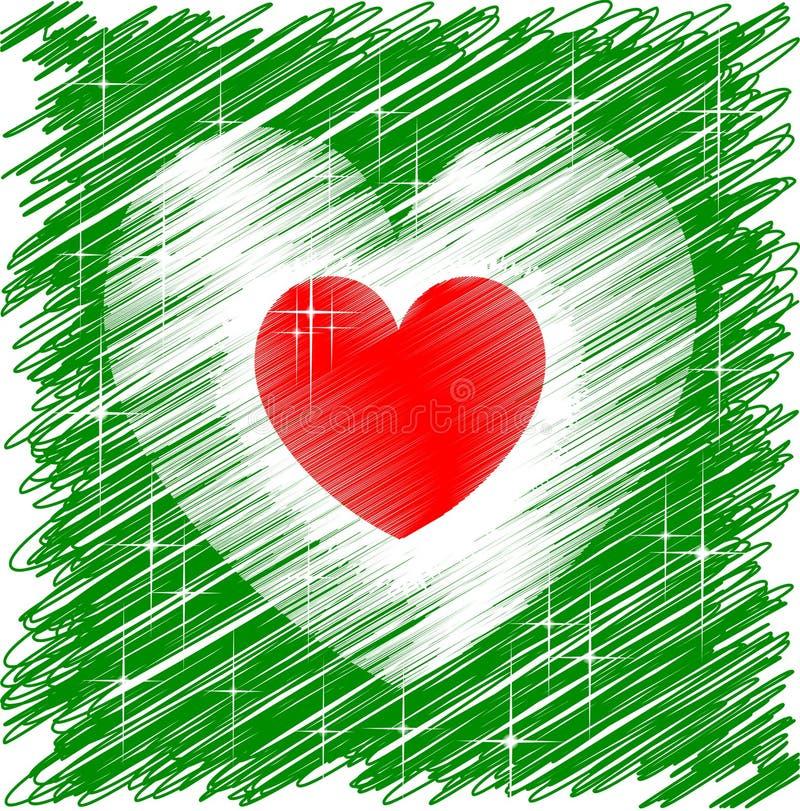 Corazón italiano ilustración del vector