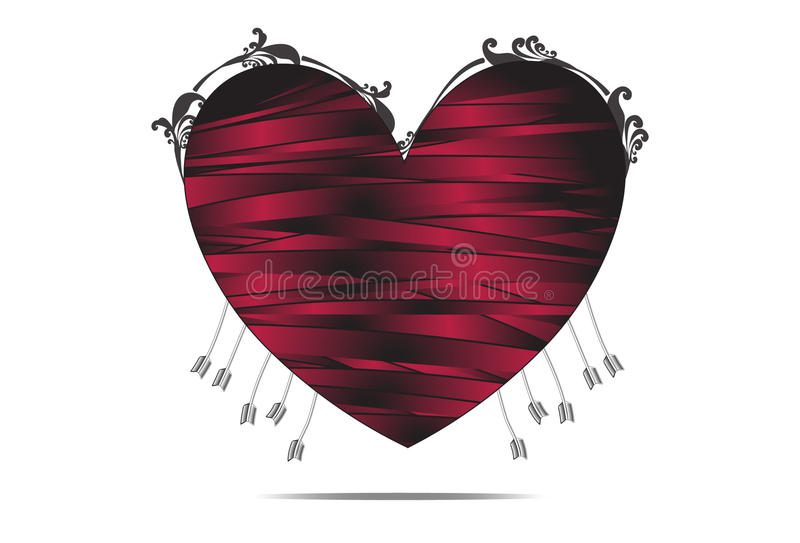 Corazón muerto imagen de archivo