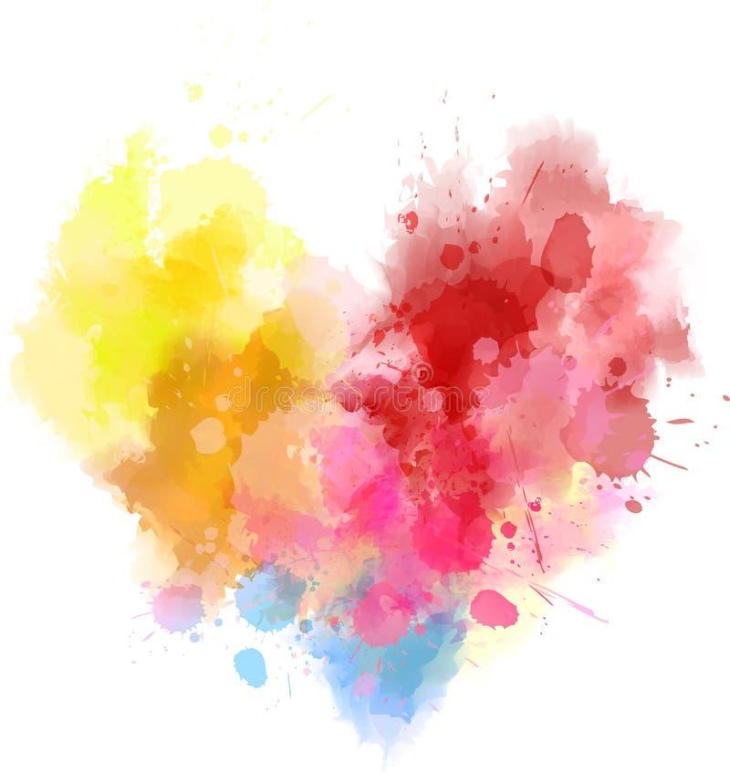 Corazón multicolor del arco iris stock de ilustración
